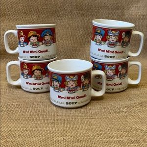 Vintage 1993 Campbell's Soup Mugs set of 5
